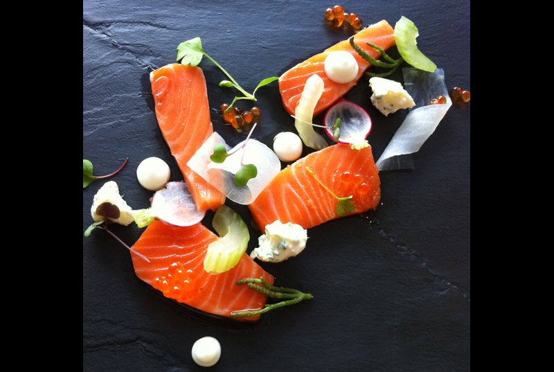 Ora King Salmon with Celery & Radish