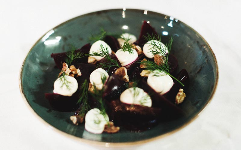 Beetroot Salad with Savory Granola