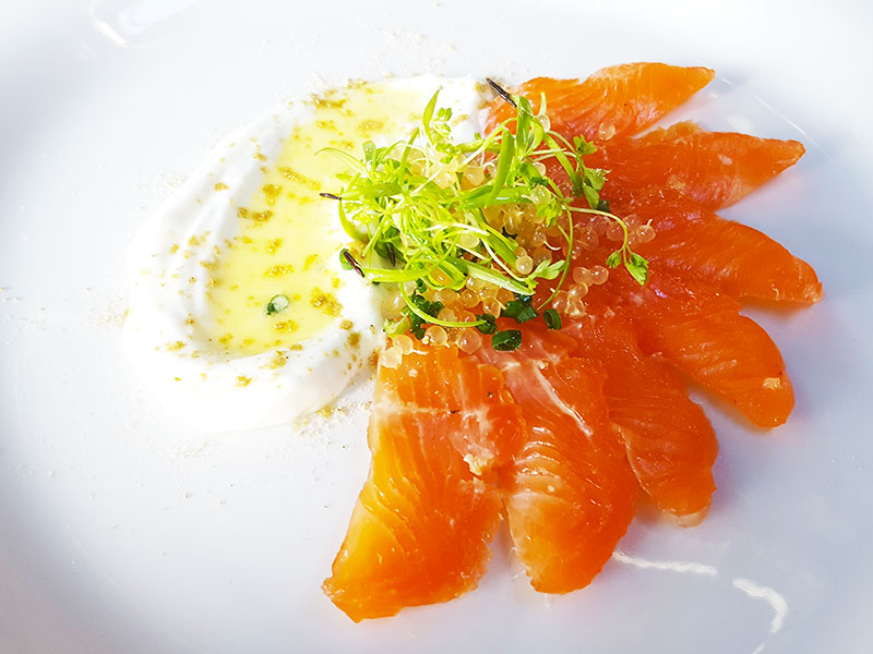 Cured Trout with Finger Lime