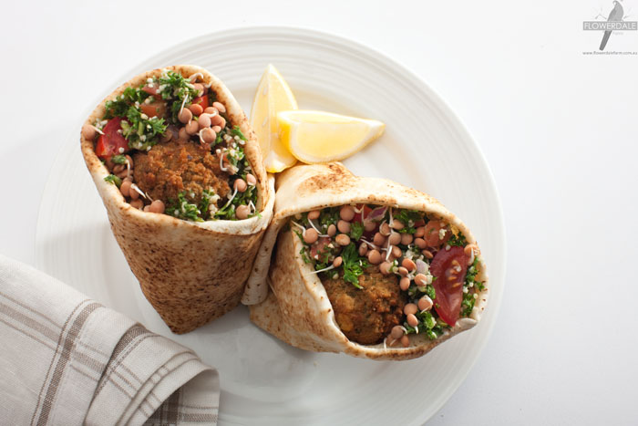 Falafel and Red Lentil Wrap