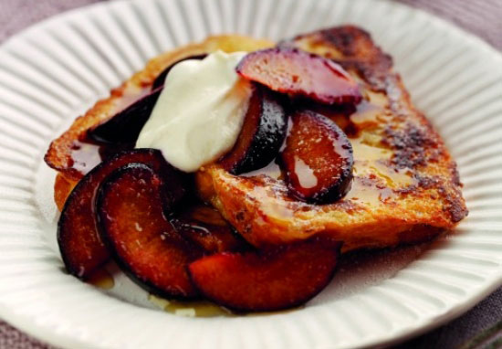 French Toast with Quince, Pear & Passionfruit